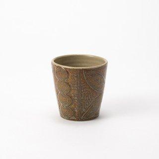 やちむん 工房o-gusuya サンニンアメ釉ミニフリーカップ