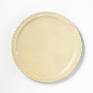 やちむん 幸陶器 しのぎ8寸皿 白