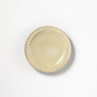 やちむん 幸陶器 しのぎ4寸皿 白