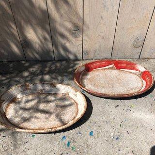 やちむん アカマシバル製陶所 楕円皿(木隠れ)