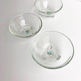 琉球ガラス glass32 三ツ足小鉢カレット