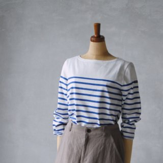 Le minor<br>パネルボーダーカットソー(ロイヤル) size 1 , size 2