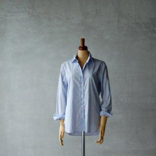 HAND ROOM WOMEN'S<br>スーピマコットン レギュラーカラーシャツ<br>(サックスブルー)