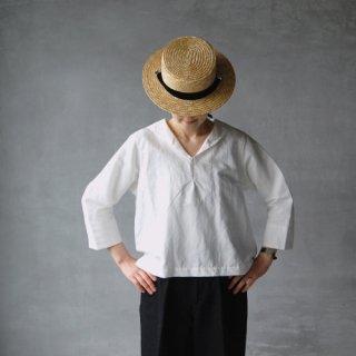 nisica × Daja<br>コットンリネンセーラーシャツ<br> 〈shirt summer house〉
