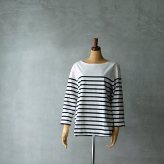 Le minor<br>パネルボーダーカットソー (ブラック) size 1 , size 2