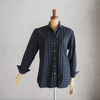HAND ROOM WOMEN'S<br>タータンチェックレギュラーカラーシャツ