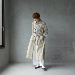 HTS(HARROW TOWN STORES)<br>コットンバルマカーンコート<br>〈COTTON BALMACAAN COAT WITH BELT〉