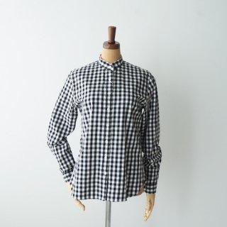HAND ROOM WOMEN'S<br>ギンガムチェック スタンドカラーシャツ