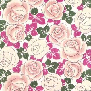 桜七軒浴衣反物・バラ