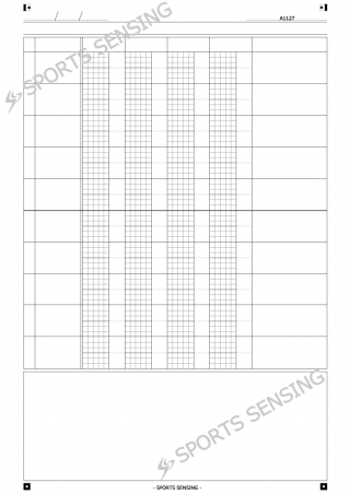 A1127 個人傾向分析シート(4テーマ/1列/10行)