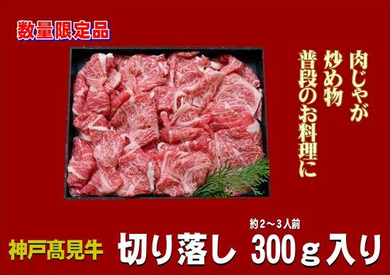 【お試し品・3D冷凍】神戸高見牛 切り落とし300g入り