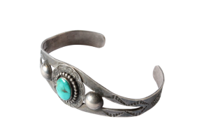 <img class='new_mark_img1' src='//img.shop-pro.jp/img/new/icons5.gif' style='border:none;display:inline;margin:0px;padding:0px;width:auto;' />Turquoise Double Shank Cuff Bacelet (VIJ18)