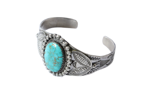 <img class='new_mark_img1' src='//img.shop-pro.jp/img/new/icons5.gif' style='border:none;display:inline;margin:0px;padding:0px;width:auto;' />Fred・Harvey Style Turquoise Bracelet (VIJ23)