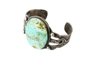 <img class='new_mark_img1' src='//img.shop-pro.jp/img/new/icons5.gif' style='border:none;display:inline;margin:0px;padding:0px;width:auto;' />Turquoise Snake Triple Shank Cuff Bacelet (VIJ8)