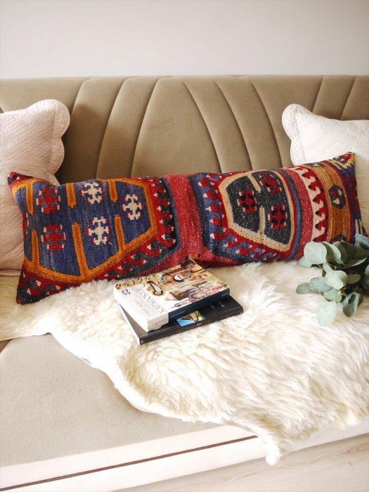 オールドキリムクッション・ピローカバー Kilim Lumbar Pillow 30×90�010