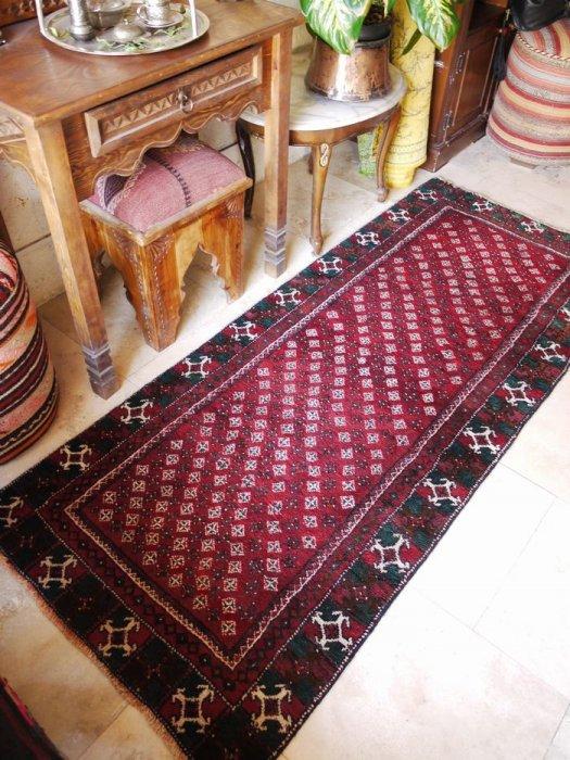 ヴィンテージラグ 部族絨毯 約198×82