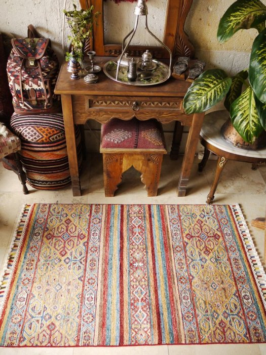 新しい絨毯 ラクダのオープンヘイべデザイン 約125×81