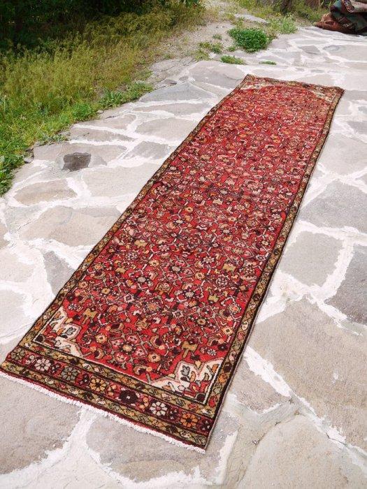 ヴィンテージラグ ペルシャ絨毯 ハマダン ランナー 約327×88
