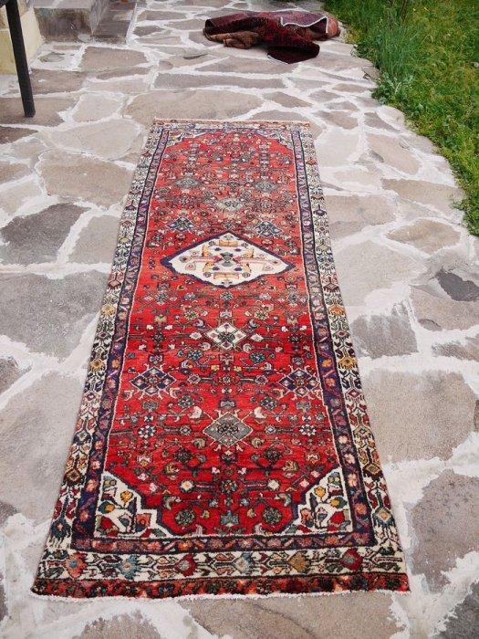 ヴィンテージラグ ペルシャ絨毯 ハマダン ランナー 約286×101