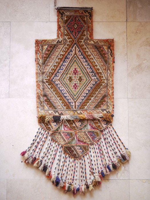 オールドキリム アフガニスタンムシュワ二族の塩袋 約97×40