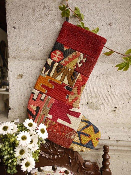 オールドキリムクリスマスブーツ005