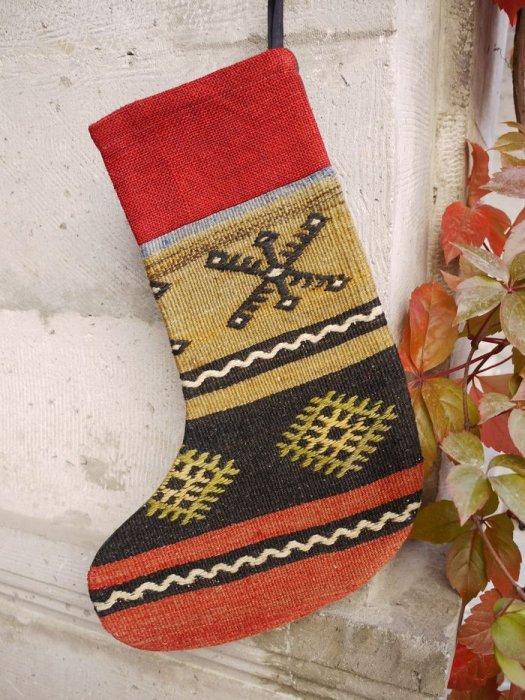 オールドキリムクリスマスブーツ013