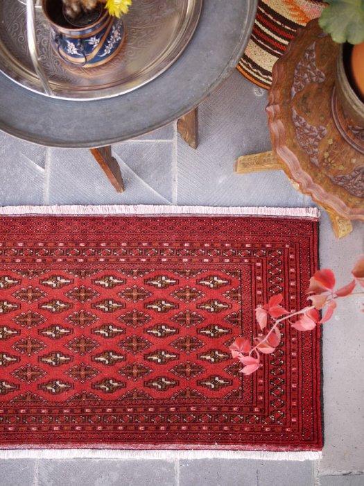 オールド絨毯 トルクメン小さいラグ 約109×54