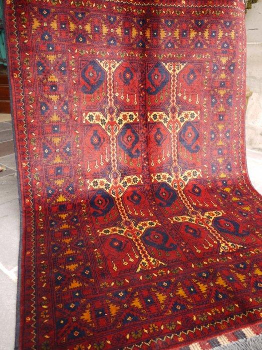 新しい絨毯 アフガン クンドゥズ  約155×106