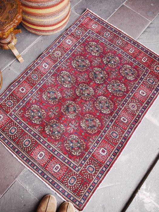 ヴィンテージラグ カイセリ絨毯ブハラモデル 約129×91