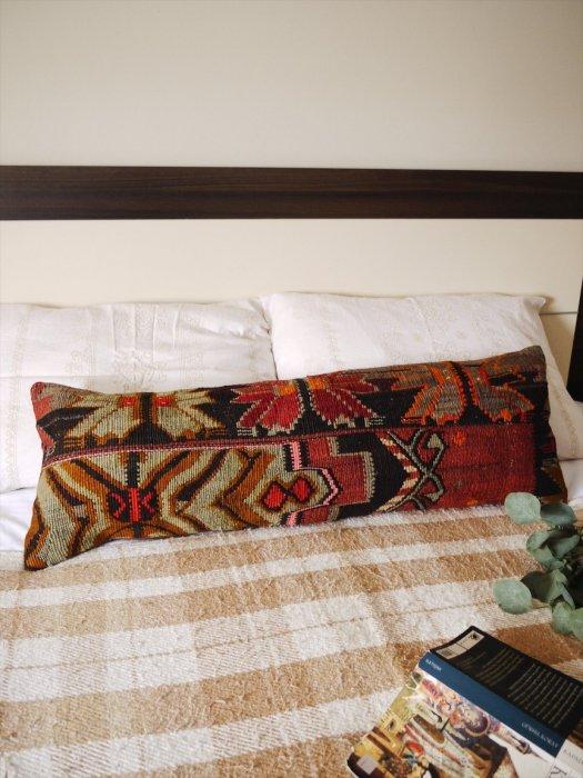 オールドキリムクッション・ピローカバー Kilim Lumbar Pillow 30×90�016