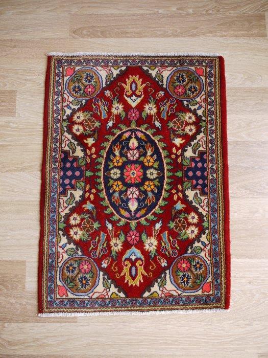 小さなペルシャ絨毯 ゴム産 約86×62
