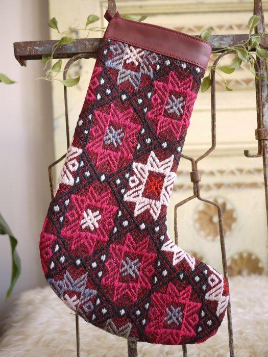 オールドキリムクリスマスブーツ066