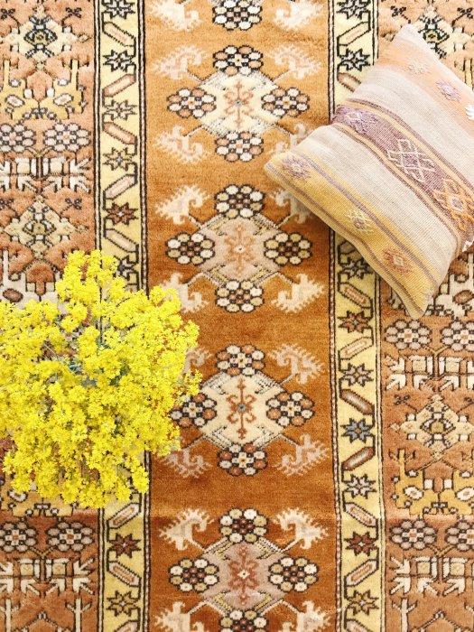トルコ産オールド絨毯 黄金に輝くミラス 約205×114