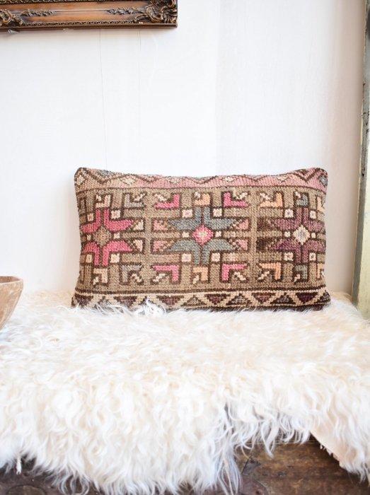 加工ラグ クッションカバー Kilim Lumbar Pillow 33×52�