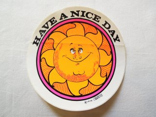 1970 HAVE A NICE DAY Sticker Deadstock