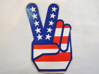 <img class='new_mark_img1' src='https://img.shop-pro.jp/img/new/icons44.gif' style='border:none;display:inline;margin:0px;padding:0px;width:auto;' />1970's Peace Fingers Sticker Deadstock