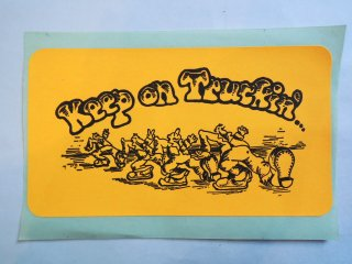 1970's Keep on Truckin Sticker Deadstock