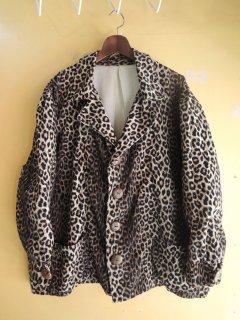 1960's Print-Corduroy Jacket of CAVE-MEN GRANTS PASS