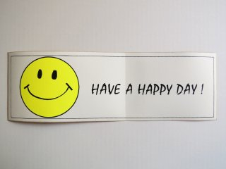 1970's HAVE A HAPPY DAY Sticker