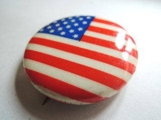 1970's USA stars & stripes Pinback Button Deadstock