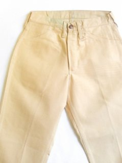 1960's tapered fit cotton pants deadstock