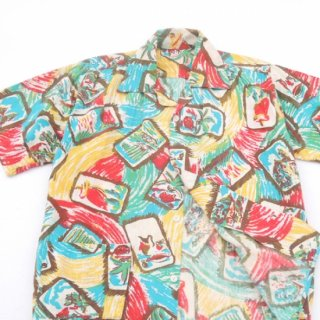 <img class='new_mark_img1' src='https://img.shop-pro.jp/img/new/icons2.gif' style='border:none;display:inline;margin:0px;padding:0px;width:auto;' />1960's All Over Print Cotton Shirts/Jacket