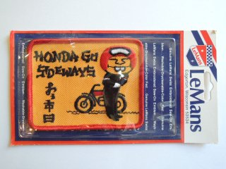 <img class='new_mark_img1' src='https://img.shop-pro.jp/img/new/icons2.gif' style='border:none;display:inline;margin:0px;padding:0px;width:auto;' />1970's HONDA GO SIDEWAYS Patch DEADSTOCK
