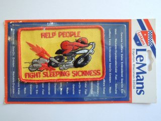 1970's FIGHT SLEEPING SICKNESS Patch DEADSTOCK
