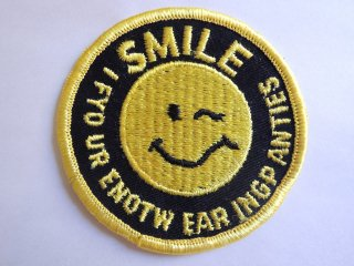 1970's SMILE Patch DEADSTOCK