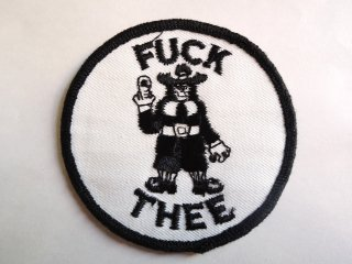 1970's FUCK THEE Patch DEADSTOCK