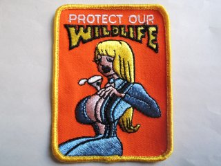 1970's PROTECT OUR WILDLIFE Patch DEADSTOCK