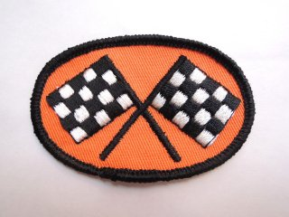 1970's checkered FLAG Patch DEADSTOCK