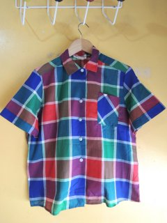 1960's madras check shirts by Jane Huntley Deadstock