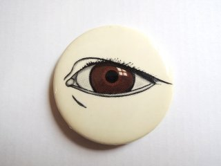 1977 WHO SEES YOU SEE? PINBACK-BUTTONs